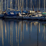 Sailboat Reflections Poster