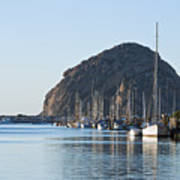 Sailboats In Morro Bay Poster