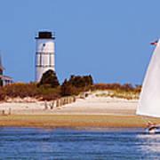 Sailing Around Sandy Neck Lighthouse Poster