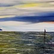 Sailing At Dusk Poster