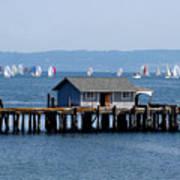Sailing At Penn Cove Poster