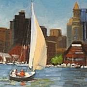 Sailing Boston Harbor Poster