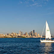 Sailing By Seattle Poster