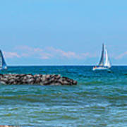 Sailing Days On Lake Erie Panorama Poster by Randy Steele