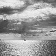 Sailing Dreams Black And White Poster