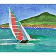 Sailing In Hawaii Poster