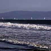 Sailing In Santa Monica Poster