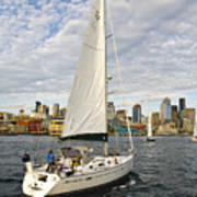 Sailing In Seattle Poster