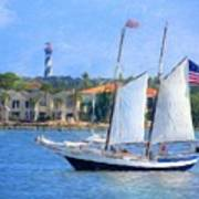 Sailing In St. Augustine Poster