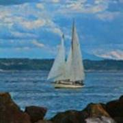 Sailing On A Summer Day Poster