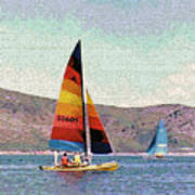 Sailing On A Utah Lake Poster