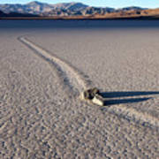 Sailing Stones Collide On The Racetrack Playa  Poster
