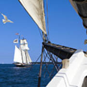 Sailing The Atlantic Poster