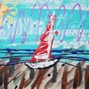 Sailing The Coast Abstract Poster