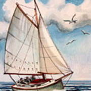 Sailing Through Open Waters Poster