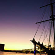 Sailing Through The City Poster