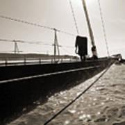Sailing Yacht Hanuman J Boat Bow Poster