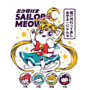 Sailor Meow Poster