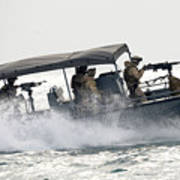 Sailors Patrol Kuwait Naval Bases Poster