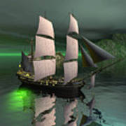 Sailship In The Night Poster