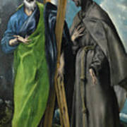 Saint Andrew And Saint Francis Poster