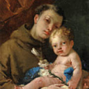 Saint Anthony Of Padua And The Infant Christ Poster