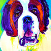 Saint Bernard -  Poster by Alicia VanNoy Call