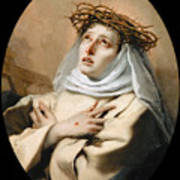 Saint Catherine Of Sienna Poster