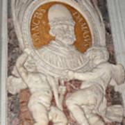 Saint Damasus Tondo In Saint Peter's Basilica Poster