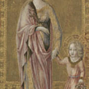 Saint Dorothy And The Infant Christ Poster