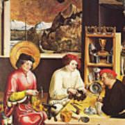 Saint Eligius In His Workshop Poster
