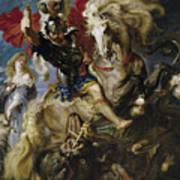 Saint George Battles The Dragon Poster