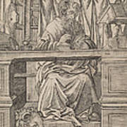 Saint Jerome In His Study Poster