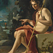 Saint John The Baptist In A Landscape Poster