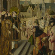 Saint Lawrence Before The Prefect Poster