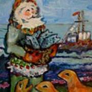 Saint Nicholas With The Harbor Seals Poster