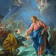Saint Peter Invited To Walk On The Water Poster