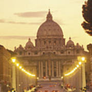 Saint Peters Cathedral In The Vatican Poster