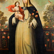Saint Rose Of Lima With Child Jesus Poster
