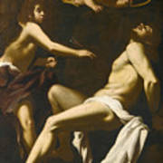 Saint Sebastian Succoured By The Angels Poster