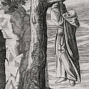 Saint Victorinus Does Penance Poster