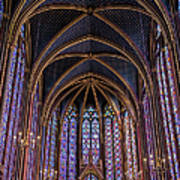 Sainte Chapelle Stained Glass Paris Poster