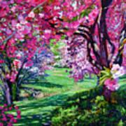 Sakura Romance Poster by David Lloyd Glover