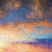 Salamonie Sunset Abstract Poster