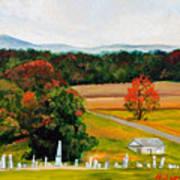 Salem Cemetery In October Poster