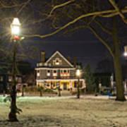 Salem Commons Winter Snow At Christmas Salem Ma Poster