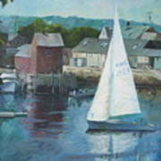 Saling In Rockport Ma Poster