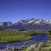 Salmon River And Sawtooth Mountains Poster