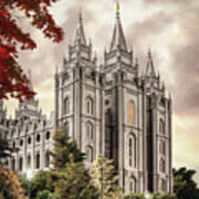 Salt Lake Temple #8 Poster