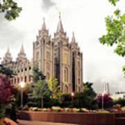 Salt Lake Temple - Summer Poster